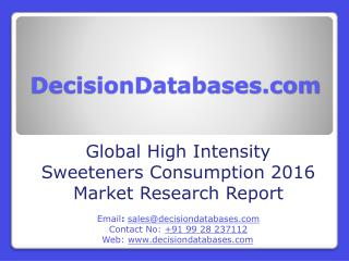 High Intensity Sweeteners Consumption Market Report - Global Industry Analysis