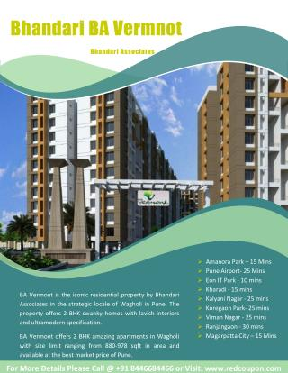 Bhandari BA Vermont New Residential Project at Wagholi