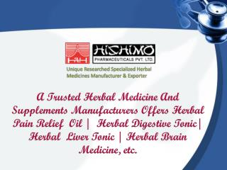 Herbal Pain Relief Oil Manufacturers