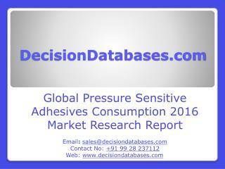 Worldwide Pressure Sensitive Adhesives Consumption Industry- Size, Share and Market Forecasts 2021