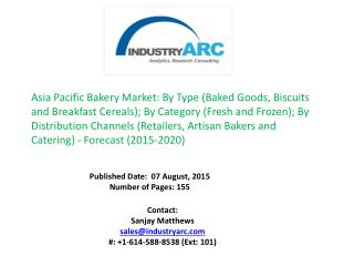 Asia Pacific Bakery Market: High scope for Rice Bread in Japan despite the low population issues