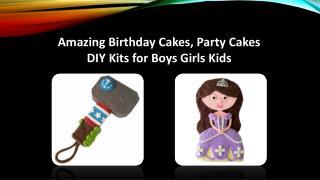 Amazing Birthday Cakes, Party Cakes DIY Kits for Boys Girls Kids