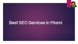 Best SEO Services in Miami