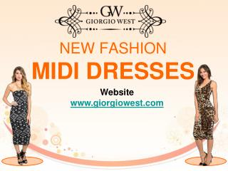 Women's Midi Dresses | Designer Midi Dresses