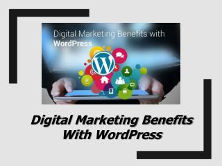 Digital Marketing Benefits with WordPress