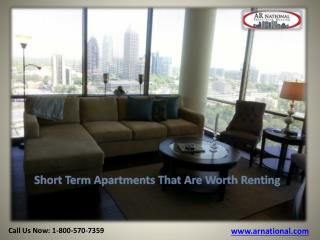 Short Term Apartments That Are Worth Renting