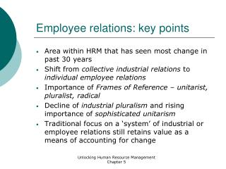 Employee relations: key points