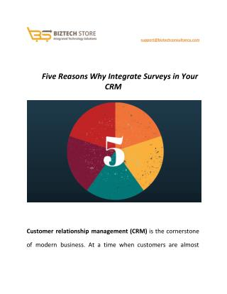 Five Reasons Why Integrate Surveys in Your CRM