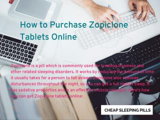 Zopiclone Tablets Online For Insomnia
