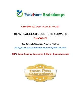 Pass4sure 300-101 Practice Test