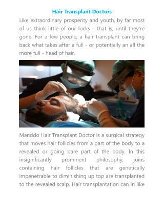Hair Transplant Doctors