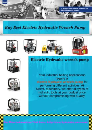 Buy Best Electric Hydraulic Wrench Pump