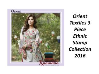Orient Textiles 3 Piece Ethnic Stamp Collection 2016