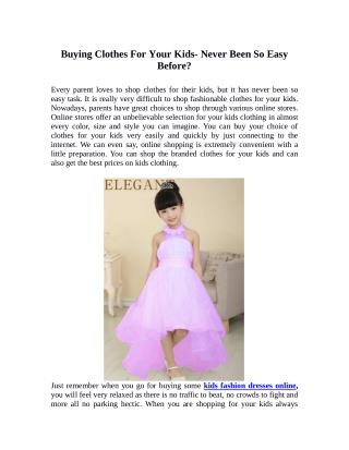 Party dresses for your lil princess