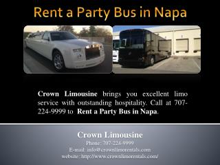 Rent a Party Bus in Napa