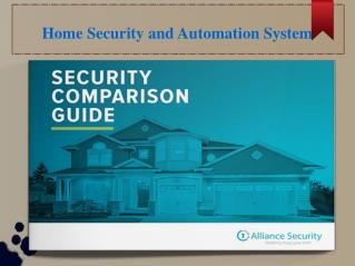 Home automation security system in Connecticut USA