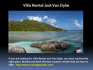 Villa Rentals in Jost Van Dyke