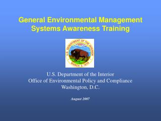 General Environmental Management Systems Awareness Training