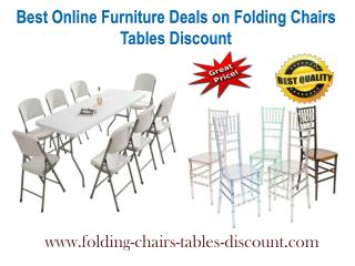 Best Online Furniture Deals on Folding Chairs Tables Discount
