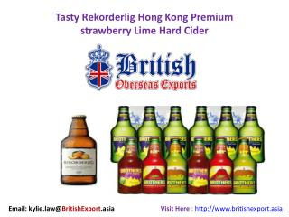Tasty Rekorderlig Hong Kong Premium strawberry Lime Hard Cider