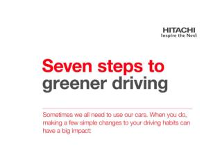 7 Ways to Greener Driving