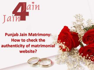 Punjab Jain Matrimony: How to check the authenticity of matrimonial website?