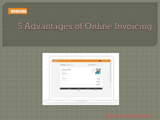 5 Advantages of Online Invoicing
