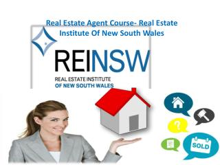 Real Estate Agent Course- Real Estate Institute Of New South Wales