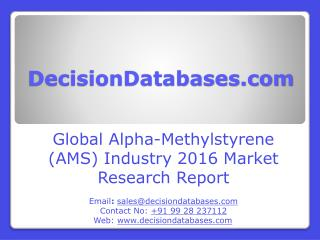 Alpha-Methylstyrene (AMS) Market Analysis and Forecasts 2021