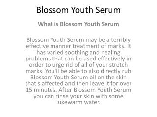 Blossom Youth Serum - The Best Anti-Aging Serum