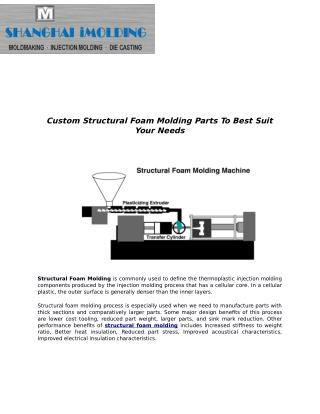 Custom Structural Foam Molding Parts