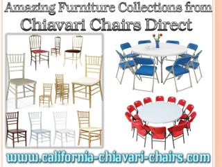 Amazing Furniture Collections from Chiavari Chairs Direct