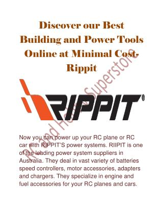 Discover our Best Building and Power Tools Online at Minimal Cost- Rippit