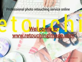 Commercial photo retouching services