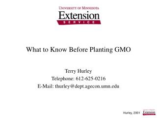 What to Know Before Planting GMO