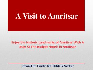 Hotels in Amritsar | Visit Historic Places in Amritsar