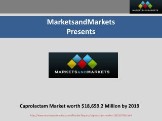Caprolactam Market worth $18,659.2 Million by 2019