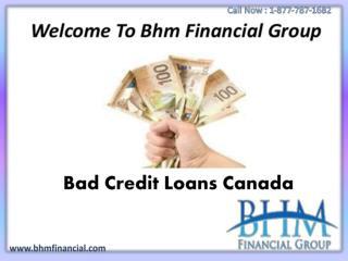 Bad Credit Loans Canada