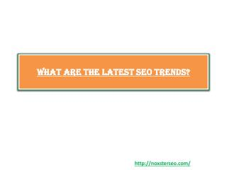 What Are the Latest SEO Trends