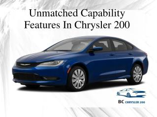 Unmatched Capability Features In Chrysler 200