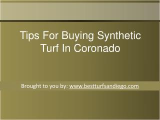 Tips For Buying Synthetic Turf In Coronado