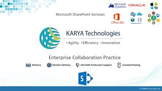 KARYA Technologies Affordable And Best Microsoft Sharepoint Service providers
