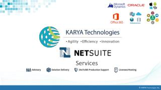 Get Your NetSuite Solution In The Shortest Possible Time - KARYA Technologies
