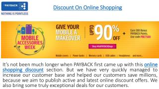 Discount on Online Shopping at PAYPACK