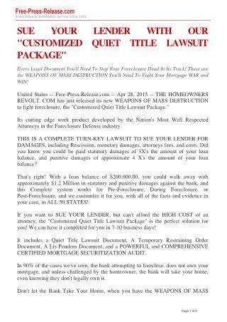 securitization lawsuit
