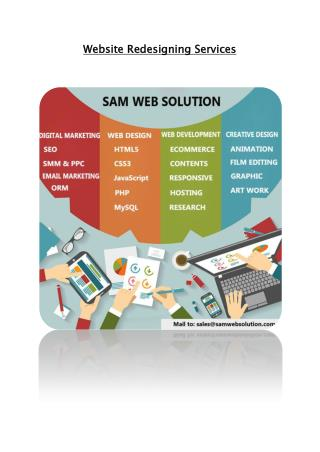 Website Redesigning services – Responsive web design services