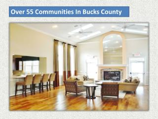Over 55 Communities In Bucks County