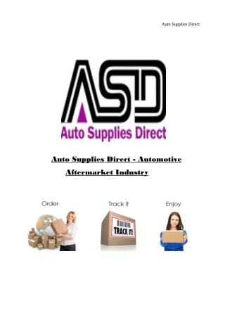 Auto Supplies Direct - Best  Automotive Aftermarket Industry