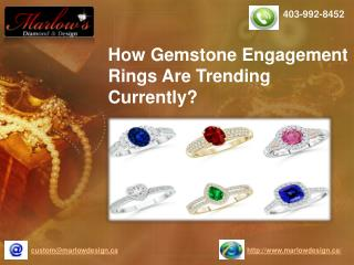 How Gemstone Engagement Rings Are Trending Currently?