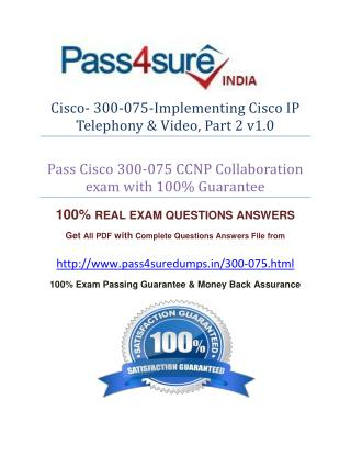 Pass4sure 300-075 Exam